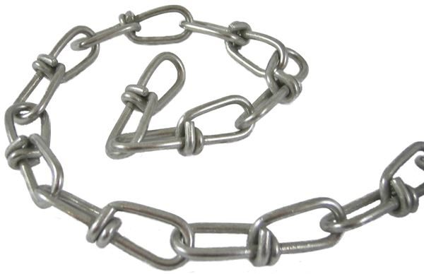 V8 Knotted Blind Chain Galvanised (15 Mtr Box)
